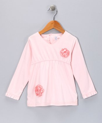 Pink Rosette Top - Girls