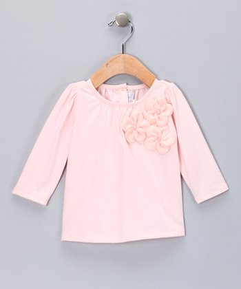 Pink Rosette Tee - Toddler & Girls