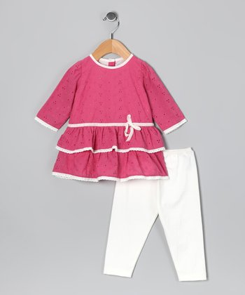 Pink Eyelet Tunic & Leggings - Infant & Toddler