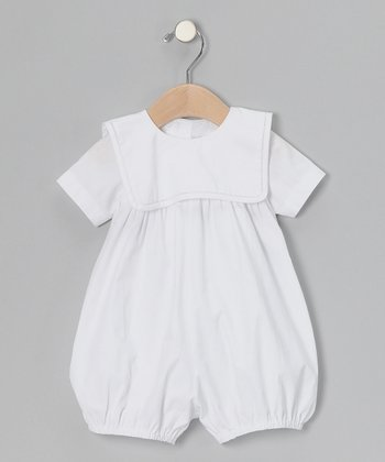 White Collar Bubble Bodysuit - Infant