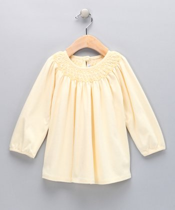 Yellow Smocked Tunic - Toddler & Girls