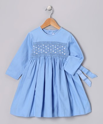 Blue Pearl Smocked Dress - Infant, Toddler & Girls