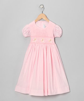 Pink Bouquet Puff-Sleeve Dress - Infant & Girls