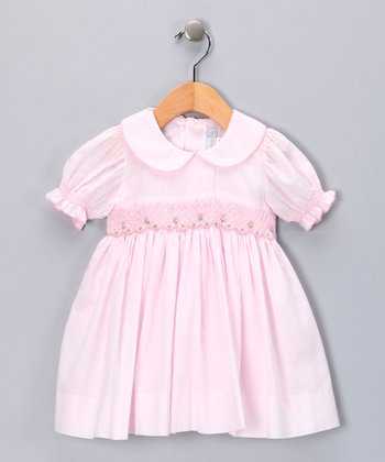 Pink Smocked Rose Dress - Infant & Toddler