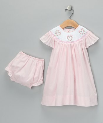 Pink Smocked Bishop Dress - Infant & Toddler