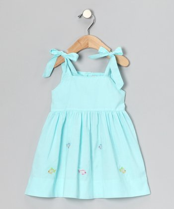 Aqua Fish Tie Dress - Infant & Toddler
