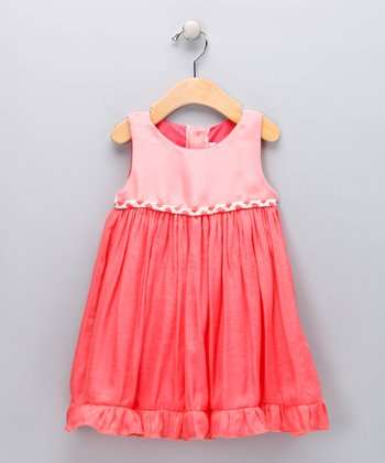 Coral Ruffle Babydoll Dress - Infant & Toddler