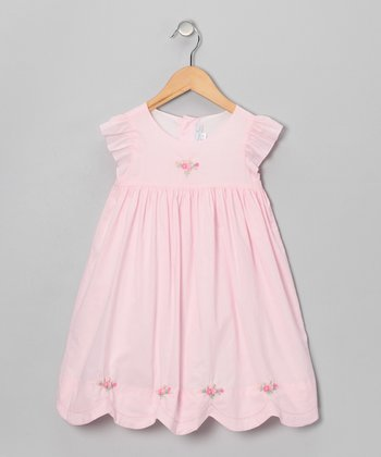 Pink Rose Babydoll Dress - Infant & Toddler