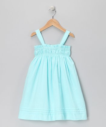 Aqua Smocked Dress - Infant, Toddler & Girls