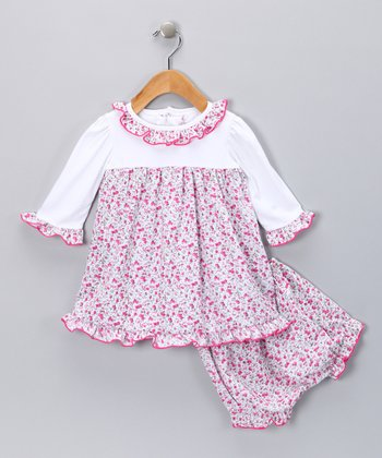 Pink Floral Dress & Bloomers - Infant