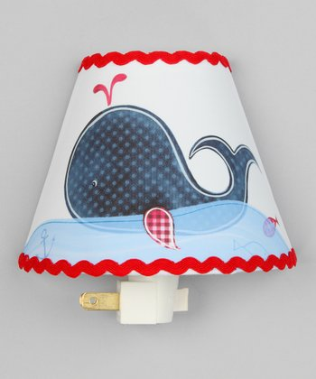 Navy Blue & Red Whale Night-Light