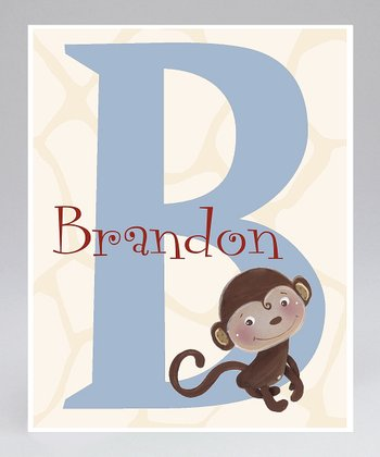 Jungle Monkey Personalized Print