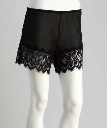 Black Spanish Lace Shorts - Women