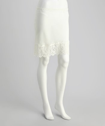 Ivory Spanish Lace Half-Slip - Women