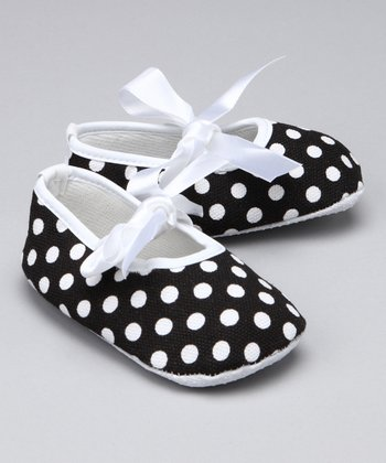 Black & White Polka Dot Booties
