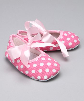 Pink Polka Dot Booties