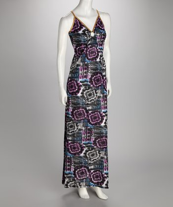 Purple Keyhole Maxi Dress