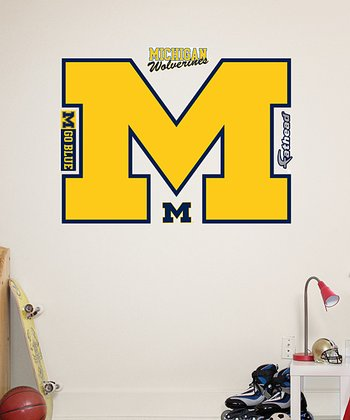 Fathead Michigan Wolverines Logo Wall Decal Set