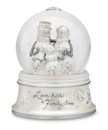 'Love Holds a Family' Snow Globe