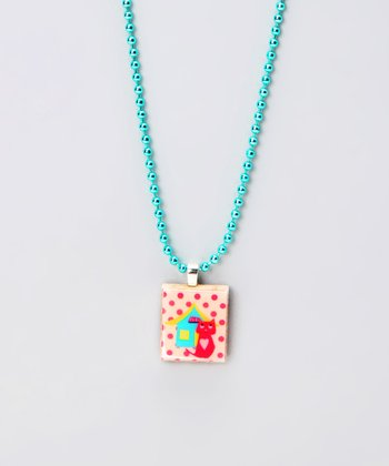 Cat Scrabble Tile Necklace