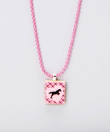 Horse Scrabble Tile Necklace