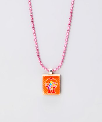 Gumball Machine Scrabble Tile Necklace
