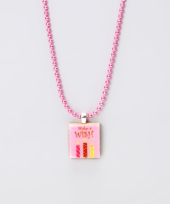 'Make a Wish' Scrabble Tile Necklace