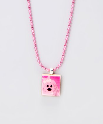 Pup Scrabble Tile Necklace