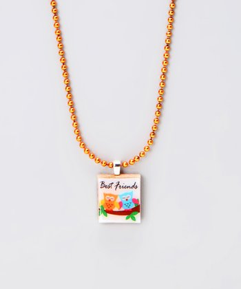 'Best Friends' Scrabble Tile Necklace