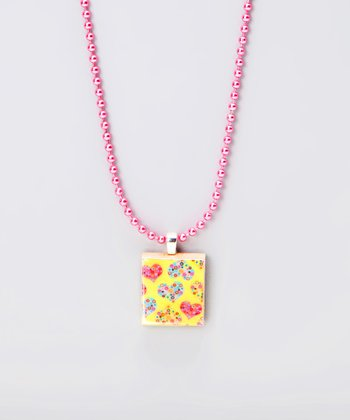 Mosaic Heart Scrabble Tile Necklace