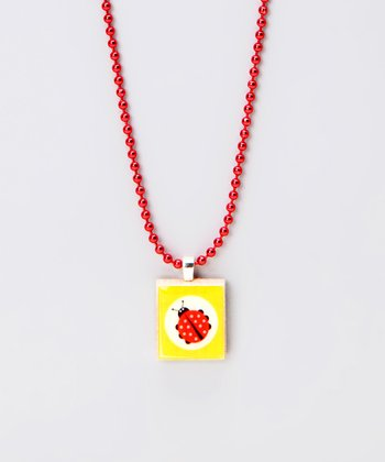 Ladybug Scrabble Tile Necklace