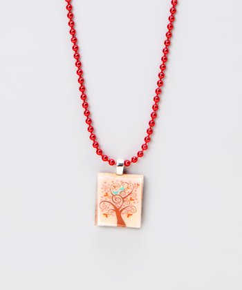 Tree Scrabble Tile Necklace