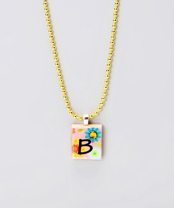 'B' Scrabble Tile Necklace