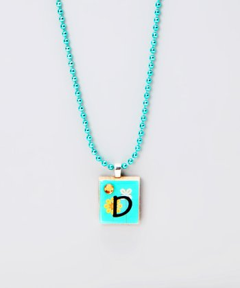 'D' Scrabble Tile Necklace