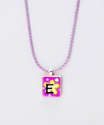 'E' Scrabble Tile Necklace