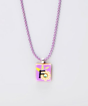 'F' Scrabble Tile Necklace