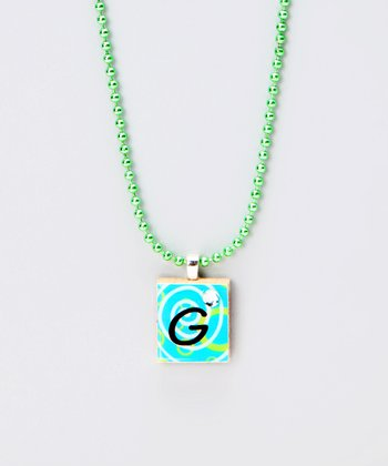 'G' Scrabble Tile Necklace