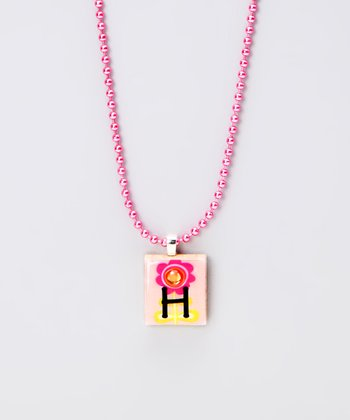 'H' Scrabble Tile Necklace