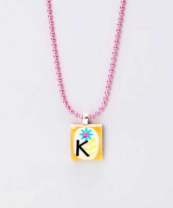 'K' Scrabble Tile Necklace