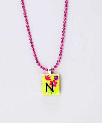 'N' Scrabble Tile Necklace