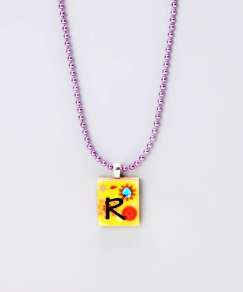 'R' Scrabble Tile Necklace