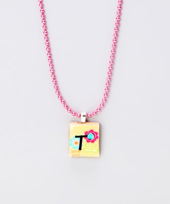 'T' Scrabble Tile Necklace