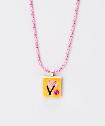 'V' Scrabble Tile Necklace