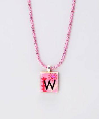 'W' Scrabble Tile Necklace