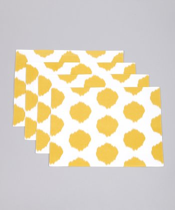 Fete Dijon Ikat Dot Placemat - Set of Four