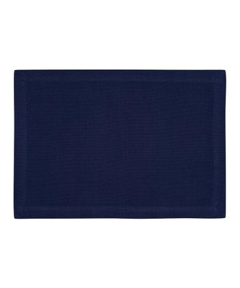 Fete Navy Ribbed Place Mat - Set of Four