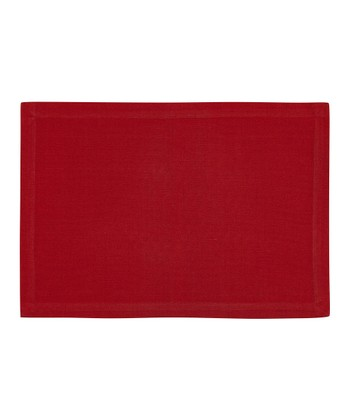 Fete Red Ribbed Place Mat - Set of Four