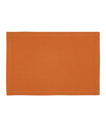 Fete Rust Ribbed Place Mat - Set of Four