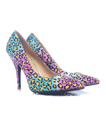 Purple & Blue Leopard Osaka Pump