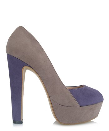 Purple & Gray Destination Platform Pump